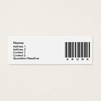 Drunk Mini Business Card