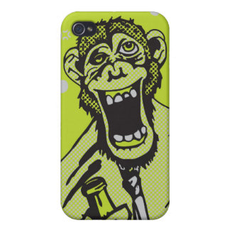 Drunk Monkey iPhone case Cases For iPhone 4