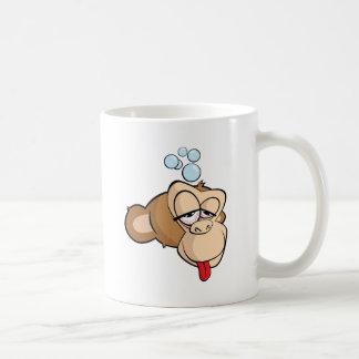 Drunk Monkeyhead Classic White Coffee Mug
