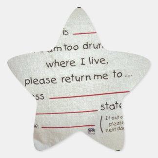 drunk nyt star sticker