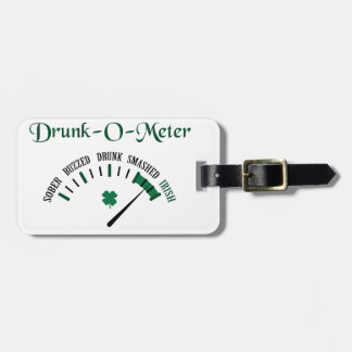 Drunk-O-Meter Luggage Tag