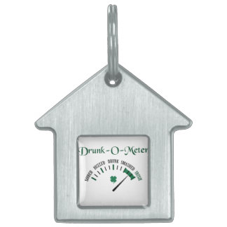 Drunk-O-Meter Pet Name Tag