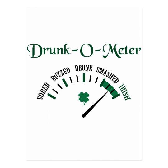 Drunk-O-Meter Postcard