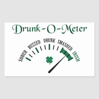 Drunk-O-Meter Rectangular Sticker