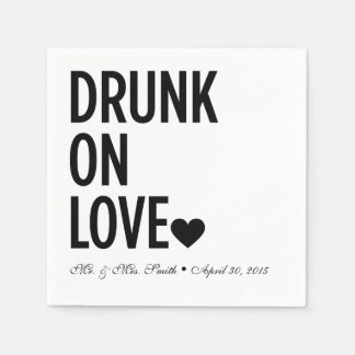 Drunk on Love Wedding Napkins