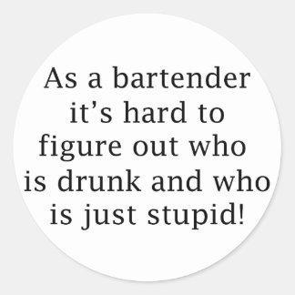 Drunk or Stupid? Classic Round Sticker