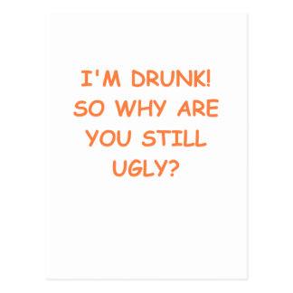 drunk postcard