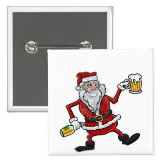 DRUNK SANTA BADGE AND OR BUTTON