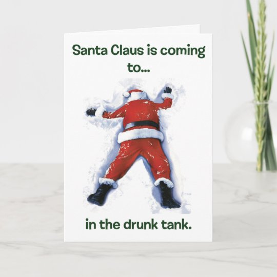 drunk santa christmas holiday card - Drunk Christmas