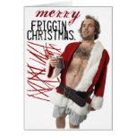 drunk santa claus card