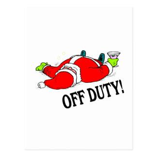 Drunk Santa Claus Postcard