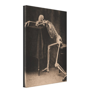 Drunk Skeleton Canvas Print