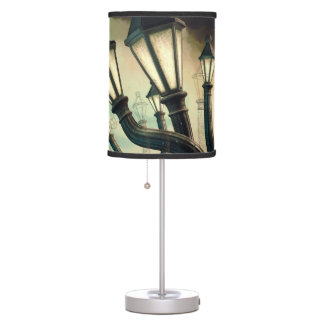 Drunk Streetlamps 2 Desk Lamp