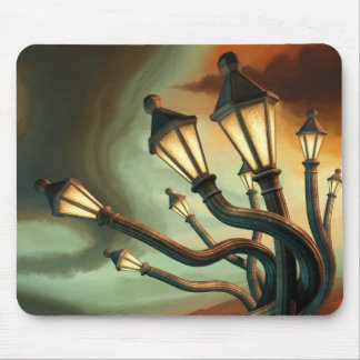 Drunk Streetlamps Mouse Pad