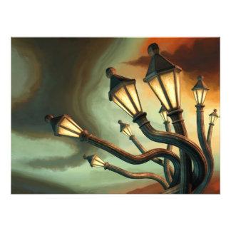 Drunk Streetlamps Photo Print