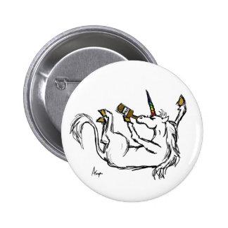 Drunk Unicorn Button