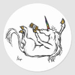 Drunk Unicorn Stickers