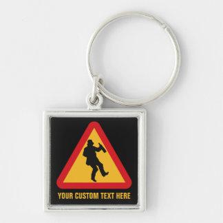 Drunk Warning custom key chains