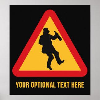 Drunk Warning custom poster