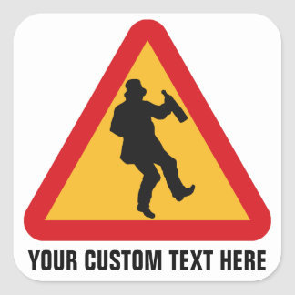 Drunk Warning custom stickers