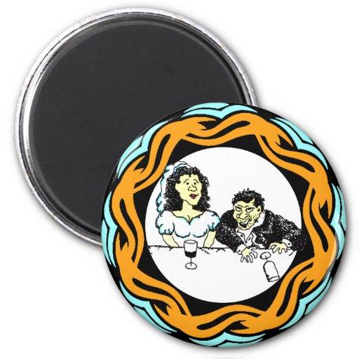 Drunk Wedding Groom Magnet