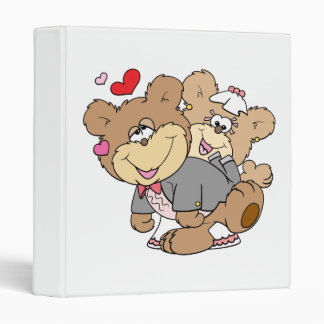 drunk with love cute wedding bears binder