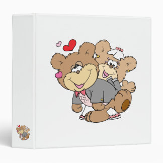 drunk with love cute wedding bears binders