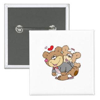 drunk with love cute wedding bears button