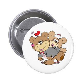 drunk with love cute wedding bears buttons