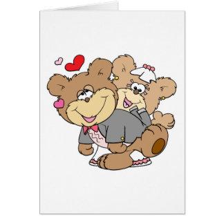 drunk with love cute wedding bears card