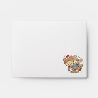 drunk with love cute wedding bears envelope