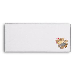 drunk with love cute wedding bears envelopes