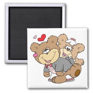 drunk with love cute wedding bears fridge magnet