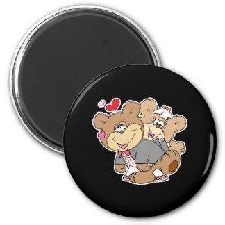 drunk with love cute wedding bears fridge magnets