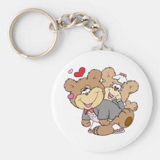 drunk with love cute wedding bears key chain