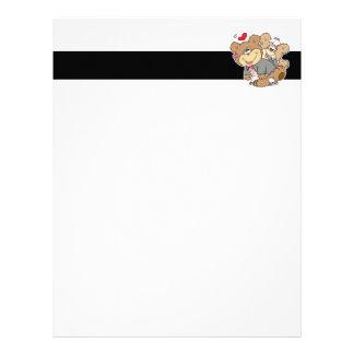 drunk with love cute wedding bears customized letterhead