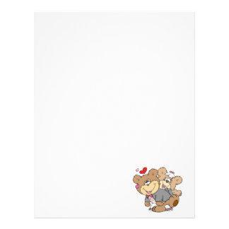 drunk with love cute wedding bears personalized letterhead