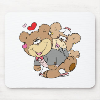 drunk with love cute wedding bears mouse pad