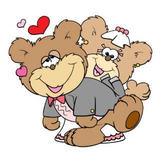 drunk with love cute wedding bears photo cut out