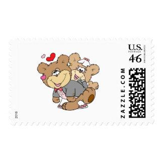 drunk with love cute wedding bears postage