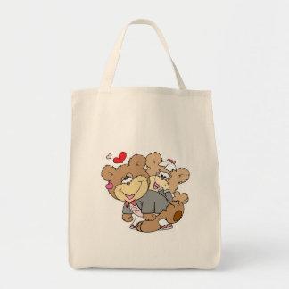 drunk with love cute wedding bears tote bags