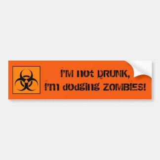 Drunk Zombie Bumper Sticker Car Bumper Sticker