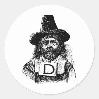 drunkard classic round sticker