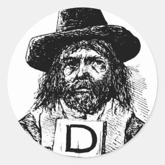 drunkards-2 classic round sticker