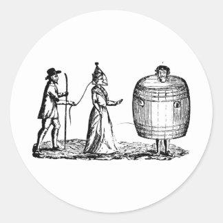 drunkards classic round sticker