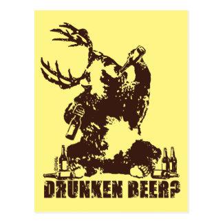 Drunken beer? postcard