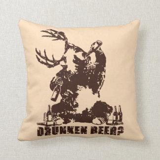Drunken beer? throw pillow