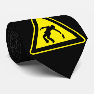 Drunken danger marker neck tie