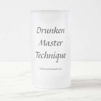 Drunken Master Technique Frosted Glass Beer Mug