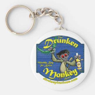 Drunken Monkey Bar Basic Round Button Keychain